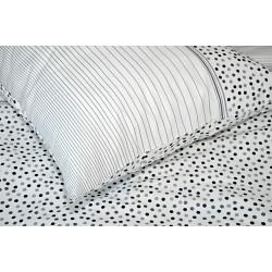Bavlněný polštářek OLIVER Barva: šedá, Rozměry: 70x90