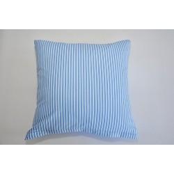 Bavlněný polštářek FENYX PRUH Barva: modrá, Rozměry: 40x40