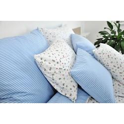 Bavlněný polštářek FENYX PRUH Barva: modrá, Rozměry: 70x90