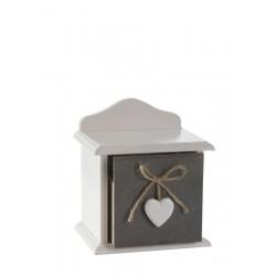 Dřevěná skříňka heart