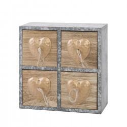 Dřevěná skříňka quattro heart