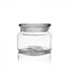 Dóza sklo s víkem 0,38 l kulatá