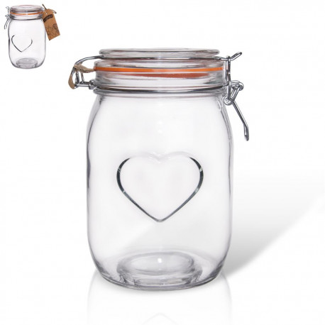 Dóza sklo patent BELA srdce 1 l