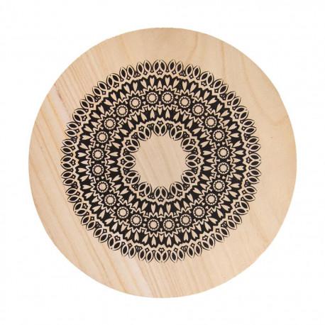 Podložka pod hrnec dřevo MANDALA pr. 20 cm