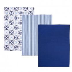 Utěrka kuch. bavlna BLUE SHAPES 3 ks