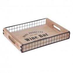 Tác dřevo/kov malý 34x24,5 cm