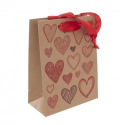Taška dárková 26x32,5 cm HEARTS