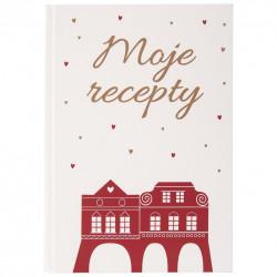 Kniha na recepty WINTER CITY zlatá