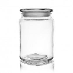 Dóza sklo s víkem 0,75 l kulatá