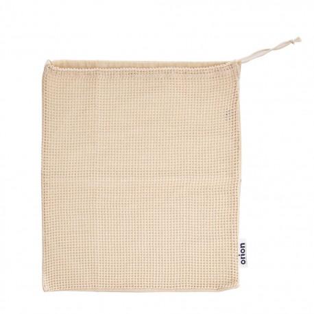 Sáček bavlna zatahovací děrovaný/plný ECO 36x40 cm