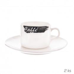 Hrnek porc.+podšálek CAFFÉ 0,18 l 2 ks