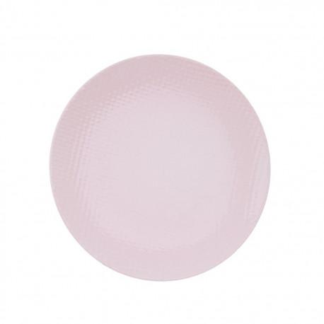 Talíř ker. dezertní RELIEF pr. 21 cm, růžová