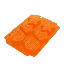 Forma silikon VÁNOCE 6, oranžová
