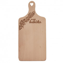 Prkénko rukojeť dřevo BABIČKA 30x14 cm