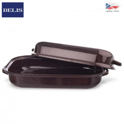 Pekáč smalt hnědý BELIS 27,5x18,5 cm víko