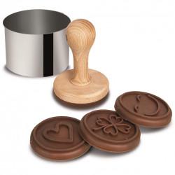 Razítko dřevo/silikon/kov sada 6 ks