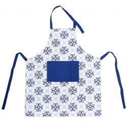 Zástěra kuch. bavlna BLUE SHAPES