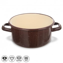Kastrol smalt BROWN 1,5 l TM3