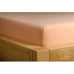 Prostěradlo jersey Meruňkové Barva: meruňková, Rozměr matrace: 180/200/20