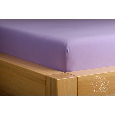 Prostěradlo jersey Světle fialové Barva: světle fialová, Rozměr matrace: 180/200/20