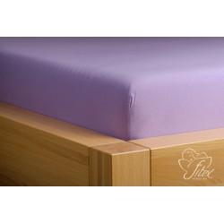 Prostěradlo jersey Světle fialové Barva: světle fialová, Rozměr matrace: 200/220/20