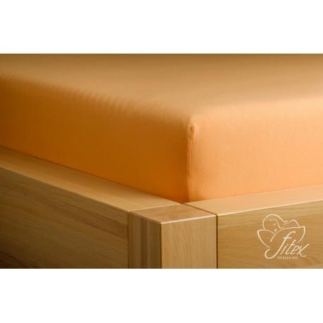 Prostěradlo jersey Karamelové Barva: karamelová, Rozměr matrace: 200/220/20