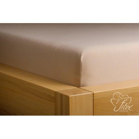 Prostěradlo jersey Mocca Barva: mocca, Rozměr matrace: 200/220/20