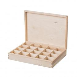 Dřevěná krabička (20 přihrádek)