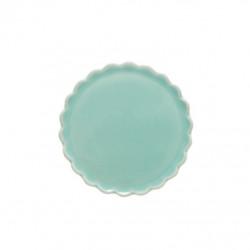Talíř dezertní, vlnka, zelená, 12 cm