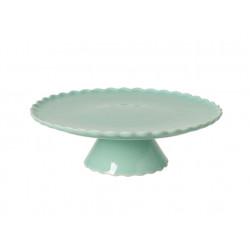 Podnos na dort, vlnka, zelená, 28 cm