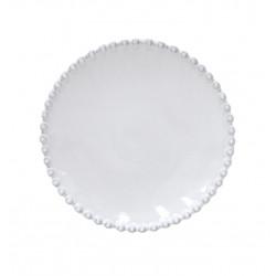 Talíř dezertní PEARL, bílá, 17cm