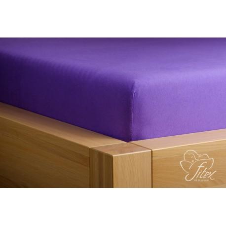 Prostěradlo jersey Tmavě fialové Barva: tmavě fialová, Rozměr matrace: 180/200/20