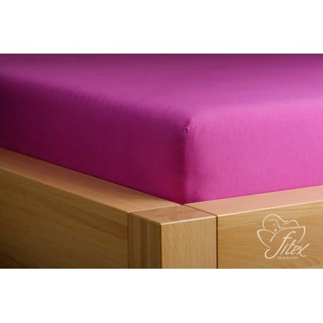 Prostěradlo jersey Ostružinové Barva: ostružinová, Rozměr matrace: 180/200/20