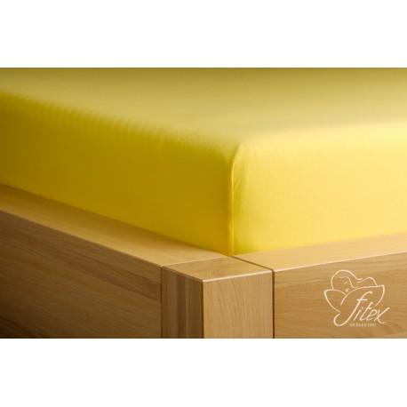 Prostěradlo jersey Citronové Barva: citronová, Rozměr matrace: 90/200/20