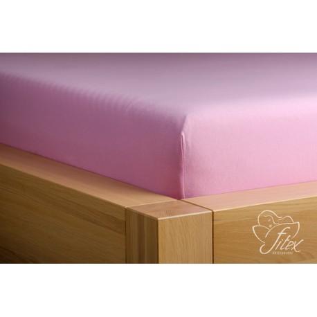 Prostěradlo jersey Starorůžové Barva: starorůžová, Rozměr matrace: 180/200/20