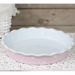 Keramická forma na koláč 26cm růžová