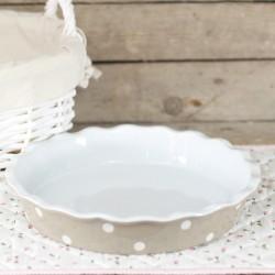 Keramická forma na koláč 26cm hnědá