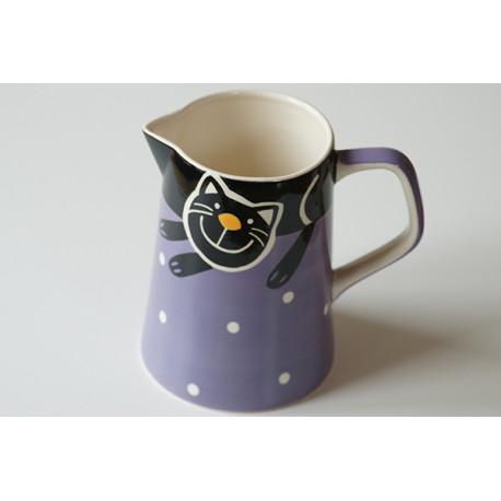 Džbán 1,7l Veselá kočka fialová