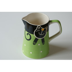 Džbán 1,7l Veselá kočka zelená