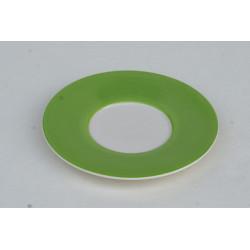 Podšálek espresso Veselá kočka zelená