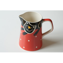 Džbán 1,7l Veselá kočka červená