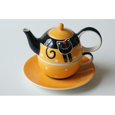 Tea for One Veselá kočka, Barva Žlutá