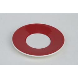 Podšálek espresso Přástevník červená