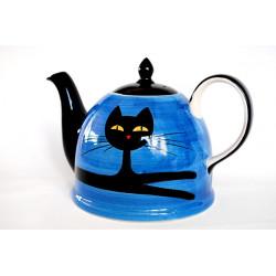 Konvice 1,8l Ležící kočka modrá
