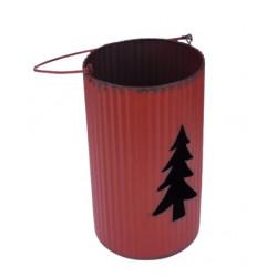 Svícen STROMEK, červená, 19 cm