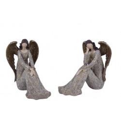 Anděl Bea, hnědá, sedící, 15 cm, ASS
