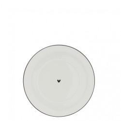 Podšálek srdíčko, černá, 15 cm