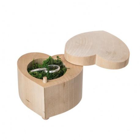 Krabička na snubní prsteny - srdce