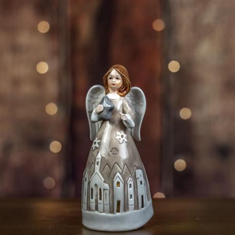Anděl s LED osv.