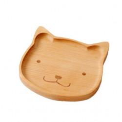 Dřevěný talířek - kočka